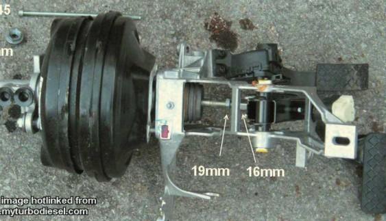 Пристрій головного гальмівного циліндра