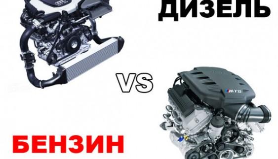 Порівнюємо бензиновий і дизельний двигун