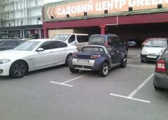 """Черговий """"герой паркування"""" показав свою майстерність (фото)"""