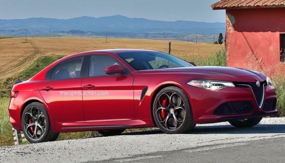 Рендер Alfa Romeo Giorgio Quadrifoglio появился в интернете