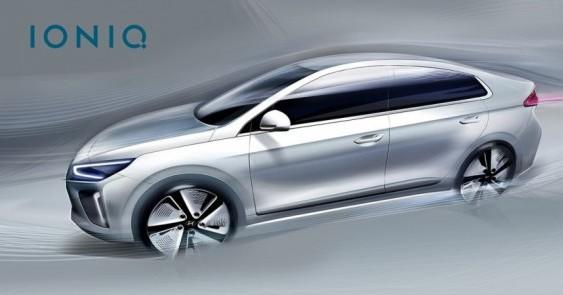 Hyundai опублікував перші зображення гібрида Ioniq