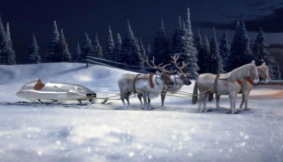 Mercedes-Benz створив свої сани для Санта Клауса