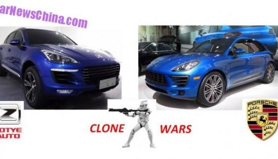 Porsche Macan проти китайського клона Zotye T700