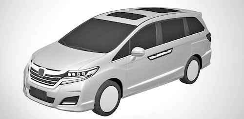 Компанія Honda показала патентні зображення нового мінівена