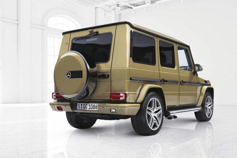 Mercedes-Benz G-Klasse, designo manufaktur, Exterieur: wüstensandMercedes-Benz G-Klasse, designo manufaktur, exterior: desert sand
