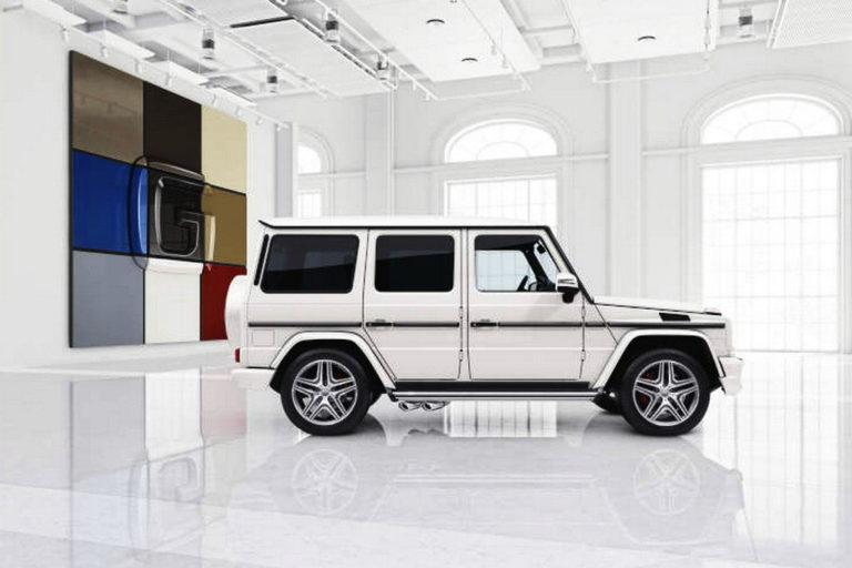 Mercedes-Benz G-Klasse, designo manufaktur, Exterieur: polarweiß Mercedes-Benz G-Klasse, designo manufaktur, exterior: polar white