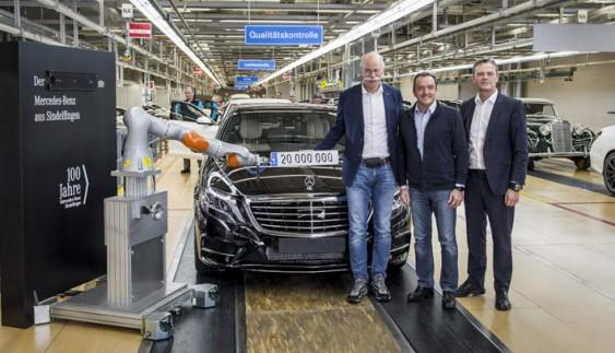Один із заводів Mercedes-Benz святкує виробництво 20-мільйонного автомобіля