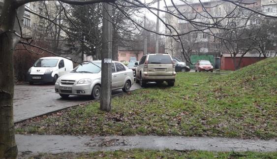 Як франківець бореться із авторагулями, що паркуються на газонах (фото)