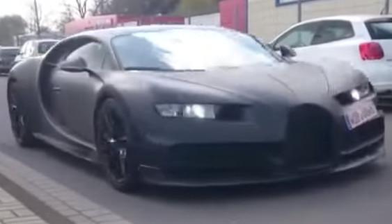 Видео с тестирований Bugatti Chiron попало в Сеть