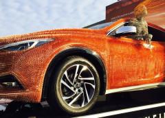 Вражаюче: кузов Infiniti прикрасили тисячами мідних цвяхів (ФОТО)