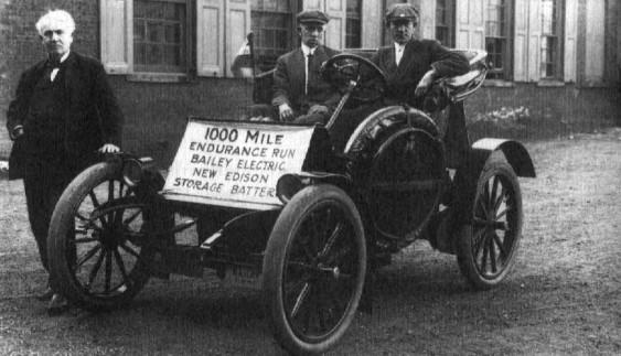 Електромобіль з батареєю Едісона 1904 року