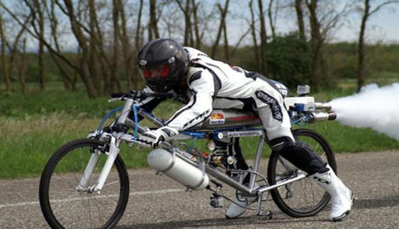Відеохіт: світовий рекорд швидкості на велосипеді