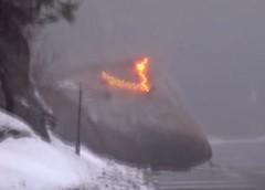 Розчищення дороги за допомогою вибуху (відео)