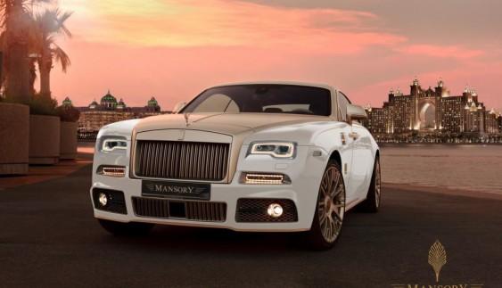 Mansory зробила Rolls-Royce Wraith золотим