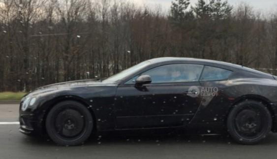 Bentley Continental GT 2017 помічений в серійному кузові на тестах