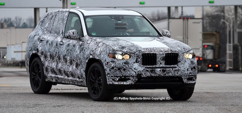 Новий кросовер BMW X3 помічений на тестах