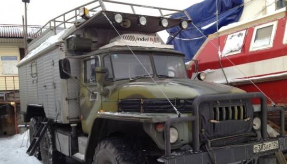 Будинок на колесах підвищеної прохідності на базі вантажівки Уpaл 4320