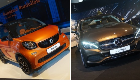 В Україні презентували новий Mercedes C-Class і дует Smart ForTwo і ForFour (ФОТО)