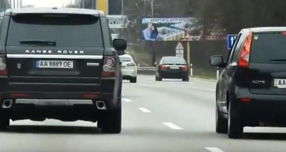Авто Луценка за півгодини порушило три пункти ПДР (відео)