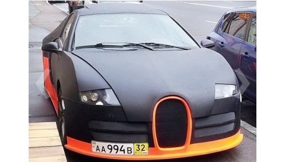 На дорогах помітили жахливу копію Bugatti Veyron