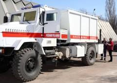 Рятувальники отримали спеціальний КрАЗ для розмінування Луганщини