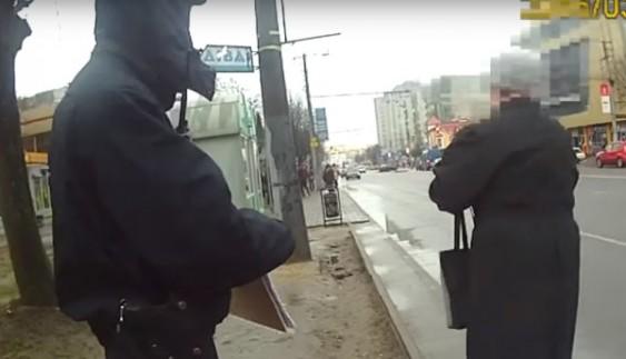 Як поліцейські пішоходів штрафували (відео)