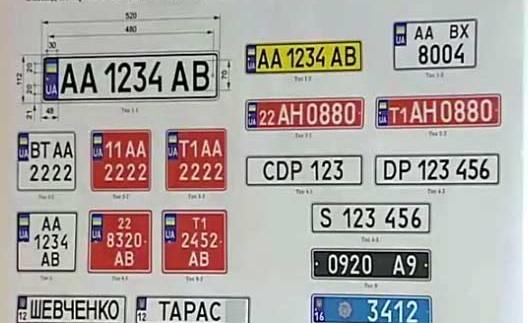 Як в Україні отримати індивідуальний номерний знак?