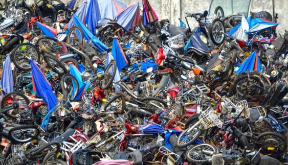 Вражаюче видовище: звалище мототехніки в Китаї