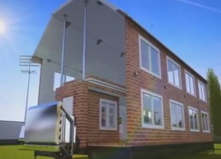 Концепт розкладного будинку на колесах (відео)