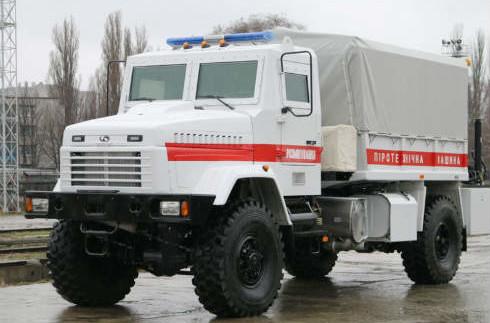 КрАЗ виготовив сучасний піротехнічний автомобіль