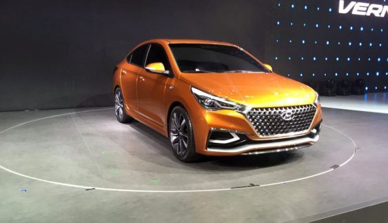 """Майбутній Hyundai Solaris показав своє """"обличчя"""""""