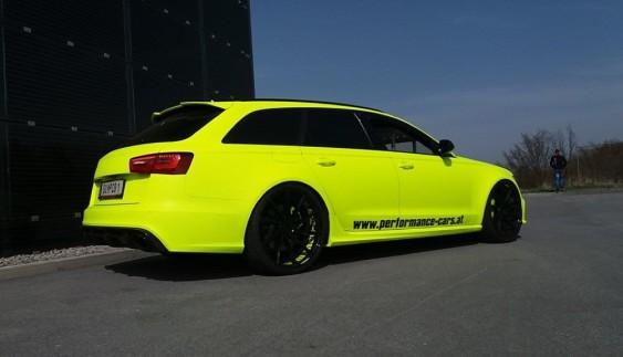 """""""Кислотний"""" тюнінг: дуже яскрава Audi RS6 кольору тенісного м'ячика"""