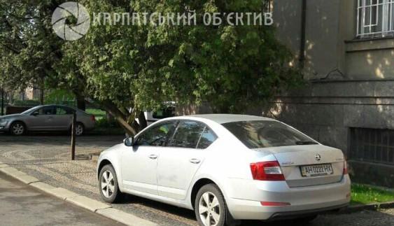 """В Україні помітили """"автохама"""" на донецьких номерах"""