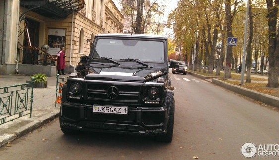 """Картина маслом: заряджений Mercedes G 63 AMG з номером """"Укргаз"""""""