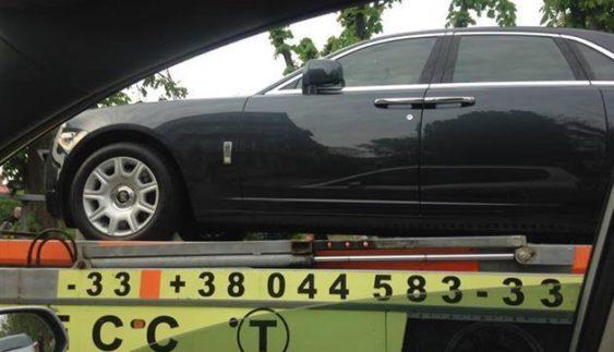 На штрафмайданчик забрали дорогий автомобіль з донецькими номерами