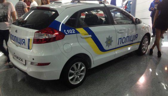 Нову поліцію пересаджують на автомобілі ЗАЗ (Фото)