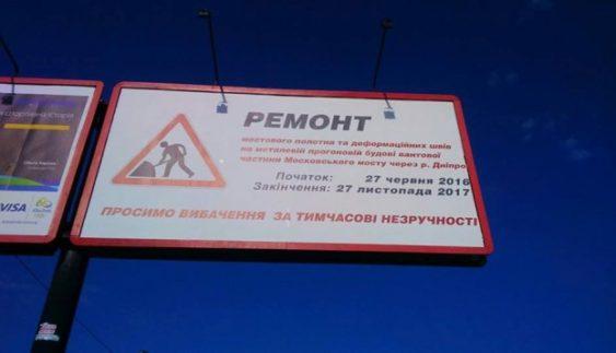 Столичних водіїв у новий спосіб інформуватимуть про ремонт доріг (Фото)