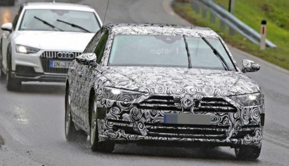 Новий Audi A8 помічений на тестах в серійному кузові