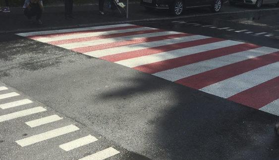 У Києві з'явився експериментальний пішохідний перехід (Фото)