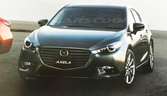 В інтернеті з'явилося перше зображення оновленої Mazda 3