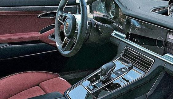Появилося зображення салону нової Porsche Panamera
