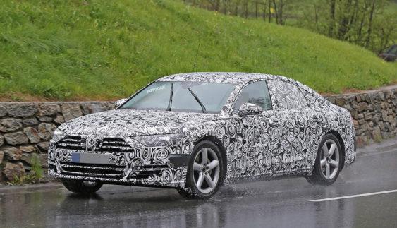 Audi приступила до тестів нового покоління флагмана A8 (Фото)