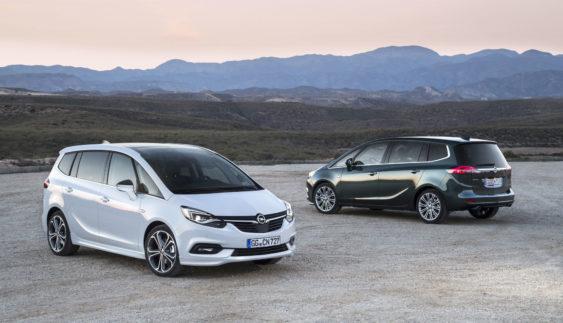 Появилися офіційні зображення оновленого Opel Zafira