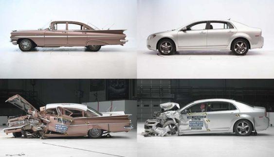 Краш-тест двох автомобілів Шевроле 1959 і 2009 років