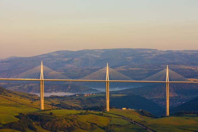 Millau Viaduct, Aveyron Département, France