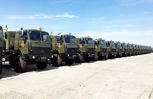 В армію передали великі партії Богдан-МАЗів і КрАЗів (Фото)