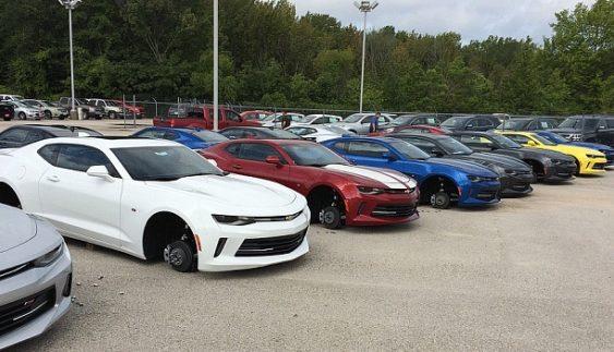 Зухвалий злочин: пограбовано одразу 48 автомобілів (Фото)