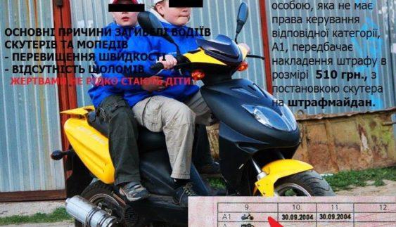 Який штраф за керування скутером без прав