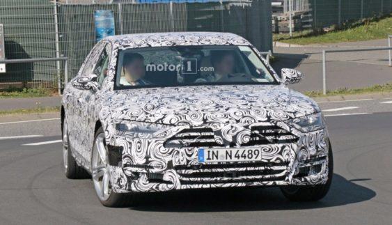 Прототип нового покоління Audi S8 сфотографований під час тестів