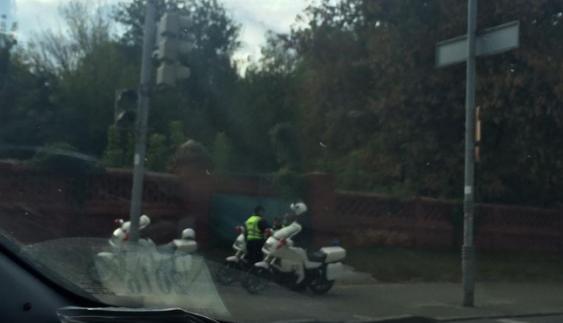 У Києві було помічено поліцейські мотопатрулі (Фото)